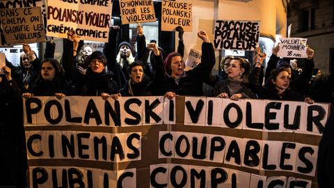 Paris protest disrupts Polanski film debut over rape accusations