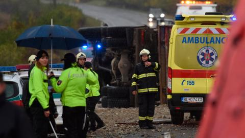 Bus crash in Slovakia kills 12, injures 17