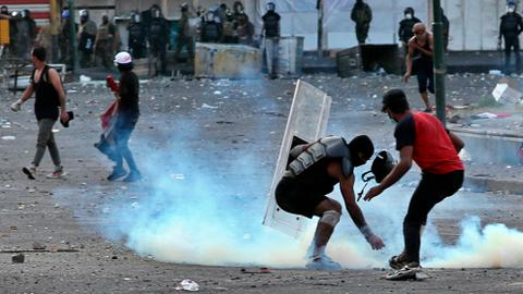 Five protesters dead in violence over key Baghdad squares