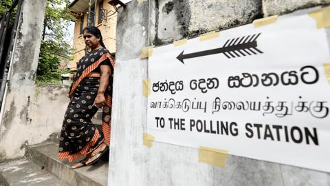 Sri Lankans vote for a new president in tense election