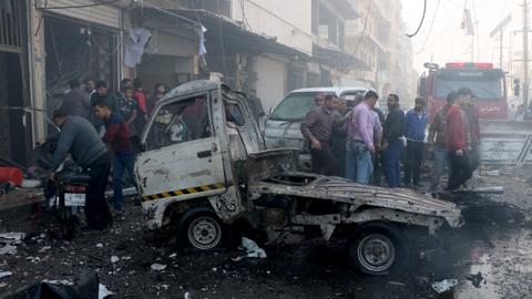 Bomb attack kills at least 18 people in northern Syria