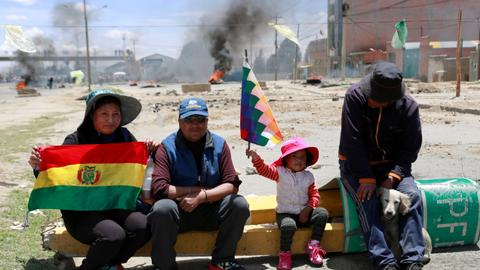 Unrest 'down' but coca-growers demand Bolivia interim leader resign