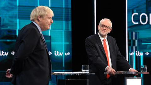 No clear champ as Johnson, Corbyn spar in UK election debate