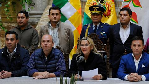 Bolivia's Congress approves law for new elections without Morales