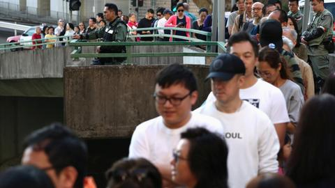 Hong Kong protesters seek to hit government at district polls