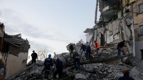 At least three people killed, 150 injured as strong earthquake hits Albania