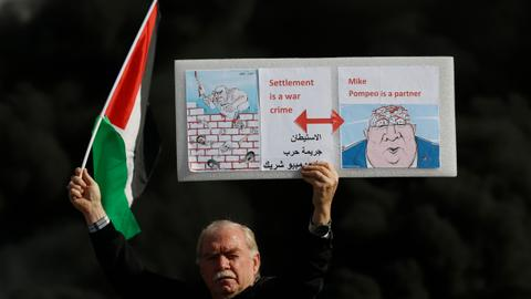 Palestinians protest US settlement decision in 'day of rage'