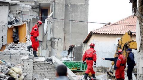 Rescuers work through the night as Albanian quake toll hits 25