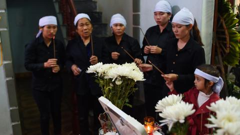 Vietnam families bury victims of UK truck tragedy