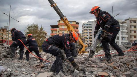 Death toll from Albania quake reaches 40 as more bodies are found