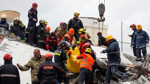 Rescuers find dead mother, children in Albanian house as quake toll hits 46