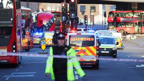 Police shoot man on London Bridge after stabbings