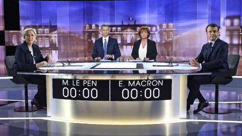 Many voters still undecided after French presidential debate