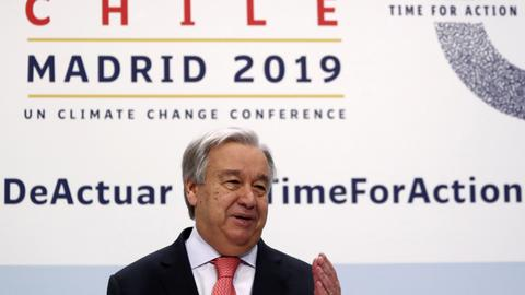 UN chief warns of 'point of no return' on climate crisis