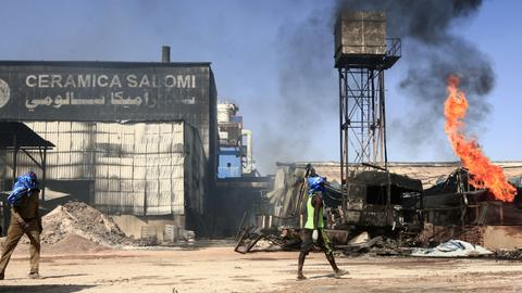 At least 23 people killed in ceramics factory fire in Sudan