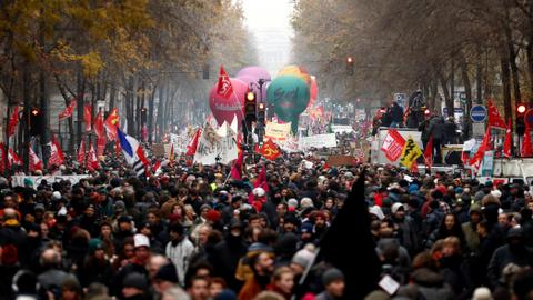 As anger at pension reforms spreads, Macron faces biggest strikes yet