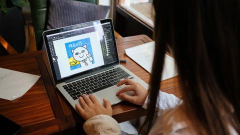 Artists cash in on China's online sticker craze