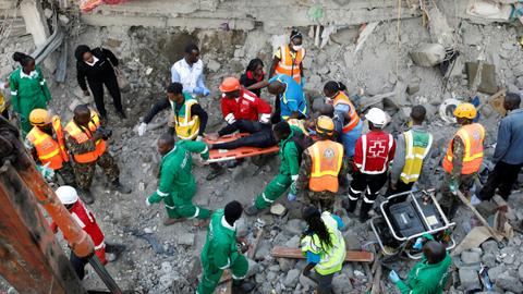 At least three killed after residential building collapses in Kenya