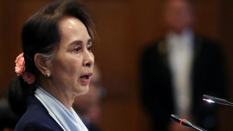 Myanmar's Suu Kyi denies genocidal intent in Rohingya case