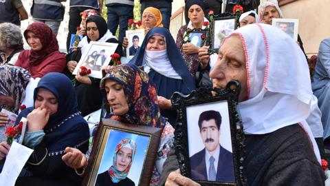 Turkish parents mark 100th day of protest against PKK