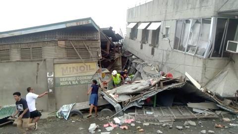 Philippines' quake toll rises to three amid hunt for survivors