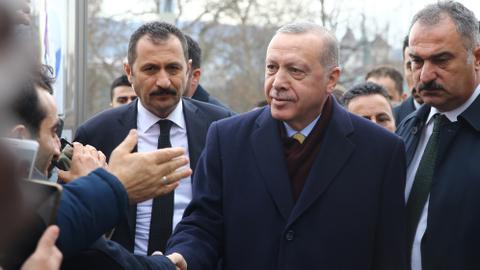 Erdogan in Switzerland to co-chair Global Refugee Forum
