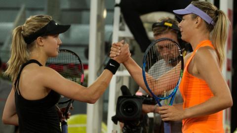 Bouchard beats Sharapova at Madrid Open