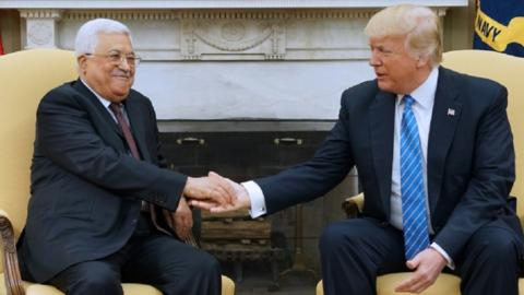 Abbas ready to work on Trump's Palestine-Israel peace plan