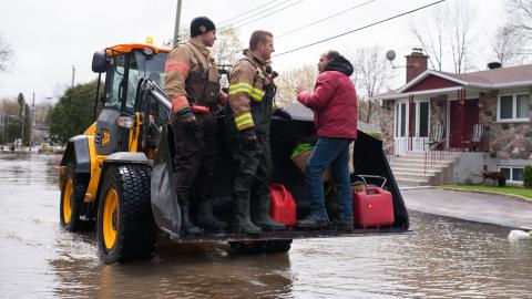 One killed, three missing in Canadian floods