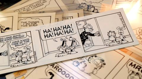 30-plus years of 'Garfield' comic strips to sell at auction