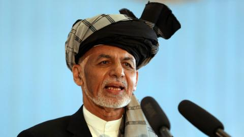 Afghan president wins second term in preliminary vote count