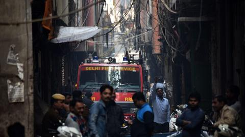 Fire at warehouse in India's capital kills nine, injures three