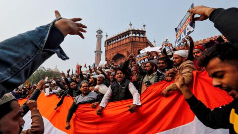 India's restive state threatens to confiscate property over protests