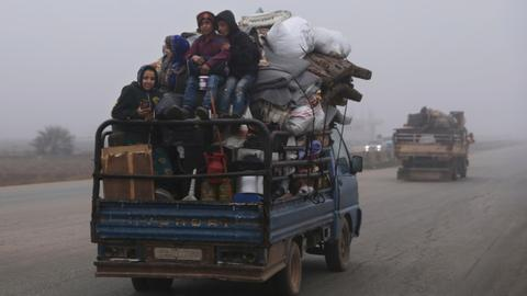Residents of northwest Syria flee new regime offensive