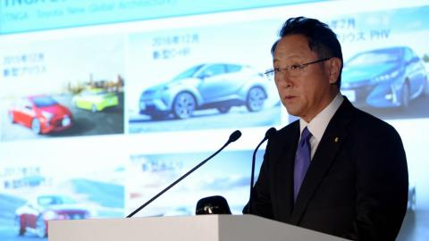 Toyota's profits fall for first time in 5 years