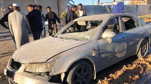 Two killed in air strike on shopping area in Libya