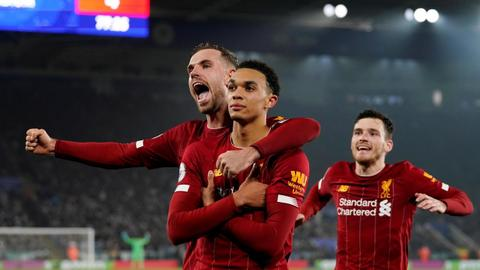 Irresistible Liverpool thrash Leicester to go 13 points clear