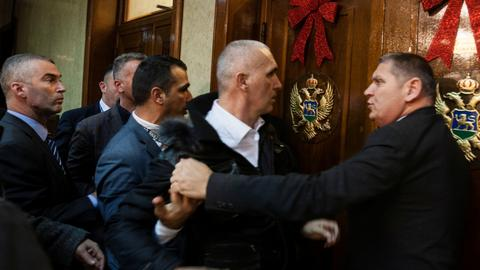 Montenegro opposition leaders arrested after chaos in parliament
