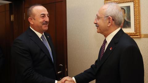 Turkey's FM briefs main opposition party on Libya