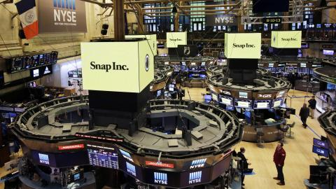 Snap Inc shares fall after first earnings report post IPO
