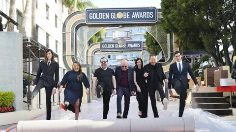 Hollywood prepares to toast winners at Golden Globes