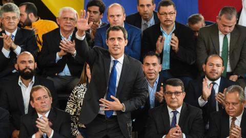 Venezuela's reelected Guaido calls for protests
