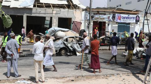 At least four killed in car bombing near Somalia Parliament