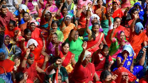 Millions strike in India to protest Modi's labour policies - unions