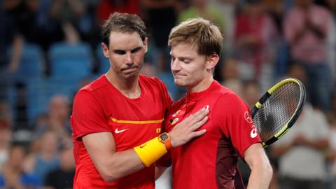 Tennis: World number one Nadal upset by Goffin at ATP Cup