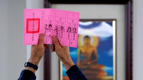 Tsai leads count in Taiwan election dominated by China fears