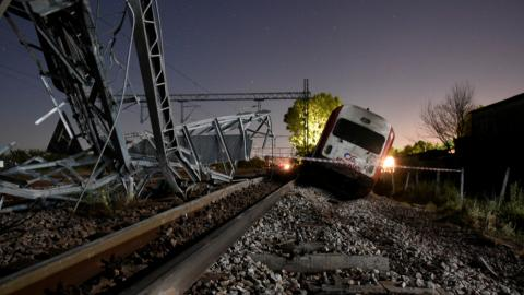 At least three killed after train derails in Greece