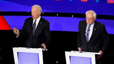 Biden, Sanders spar over war in last debate before primaries