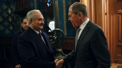 Haftar's escape from ceasefire talks deals a 'blow to Russia's reputation'