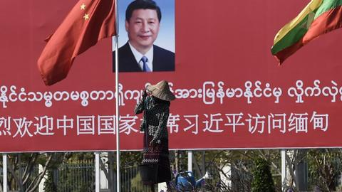 China's Xi arrives in Myanmar on billion-dollar charm offensive